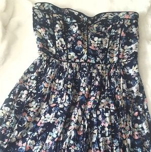 New York & Company strapless floral dress